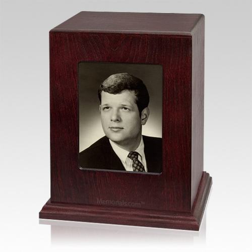 Rosewood Picture Child Cremation Urn