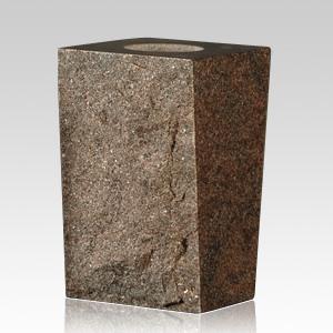 India Red Rustic Granite Vase