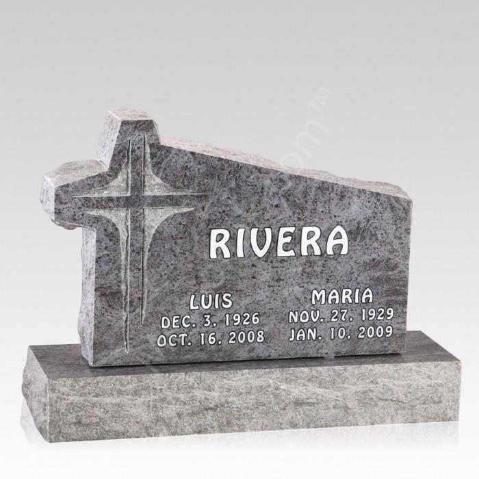Rustica Upright Cemetery Headstone