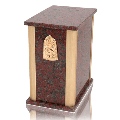 Solitude African Red Granite Cremation Urns