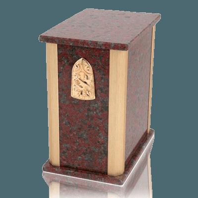 Solitude African Red Granite Cremation Urns