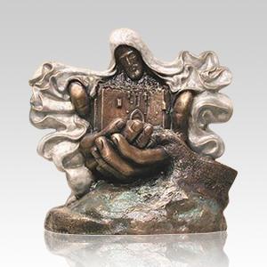 Jerusalem Bronze Cremation Urn