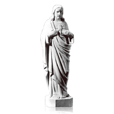 Sacred Heart of Jesus Large Marble Statues