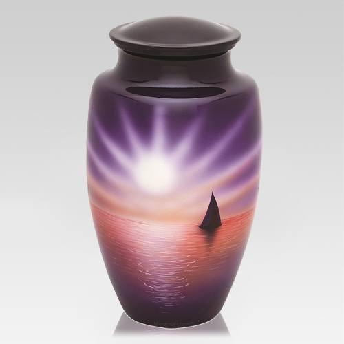 Sail Away Metal Cremation Urn