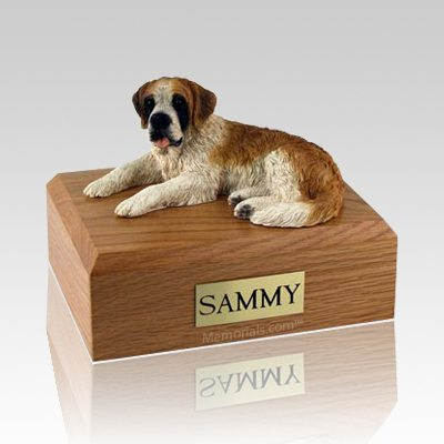 Saint Bernard Laying Dog Urns