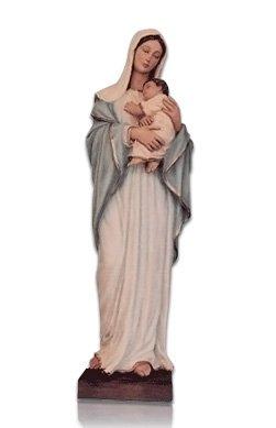 Saint Lady With Child Medium Fiberglass Statues