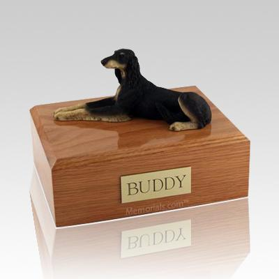 Saluki Laying Dog Urns