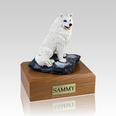 Samoyed Sitting Dog Urns