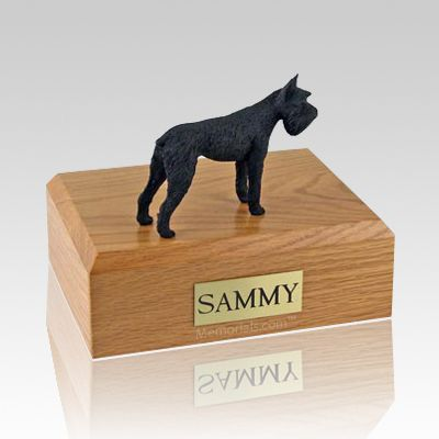 Schnauzer Giant Black Dog Urns