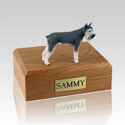 Schnauzer Giant Gray Dog Urns