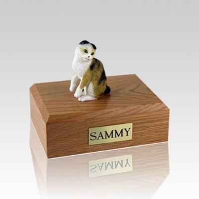 Scottish Fold Tort Small Cat Cremation Urn