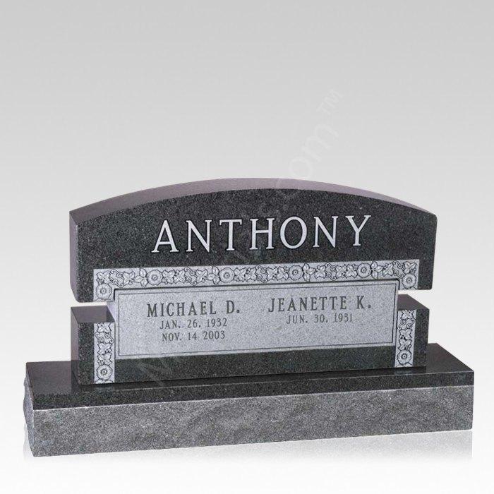 Scroll Companion Granite Headstone