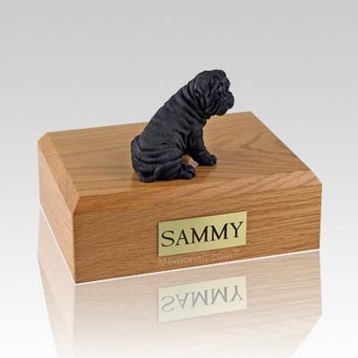 Shar Pei Black Dog Urns
