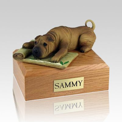 Shar Pei Brown Dog Urns
