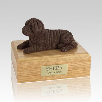 Shar Pei Chocolate Dog Urns