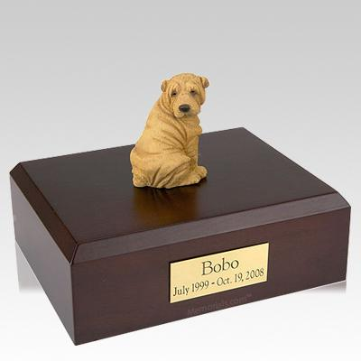 Shar Pei Tan Dog Urns