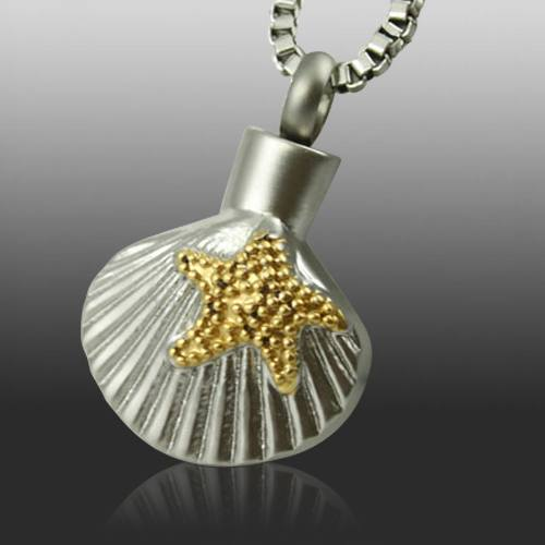 Shell Cremation Necklace