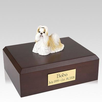Shih Tzu Gold & White Standing Dog Urns