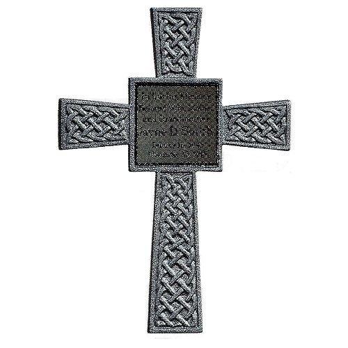 Silver Celtic Memorial Cross