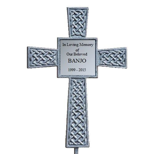 Silver Celtic Pet Memorial Cross