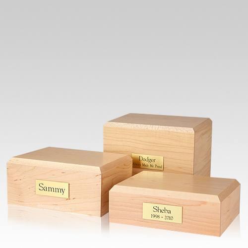 Simplicity Maple Pet Cremation Urns