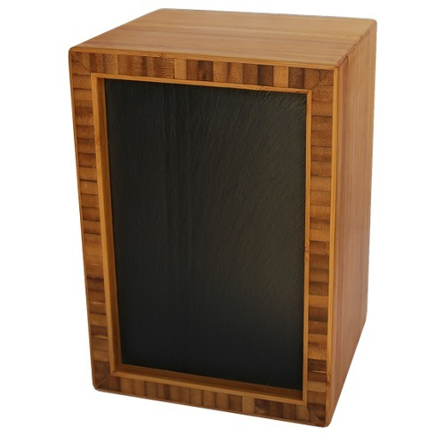 Slate Bamboo Nature Cremation Urn
