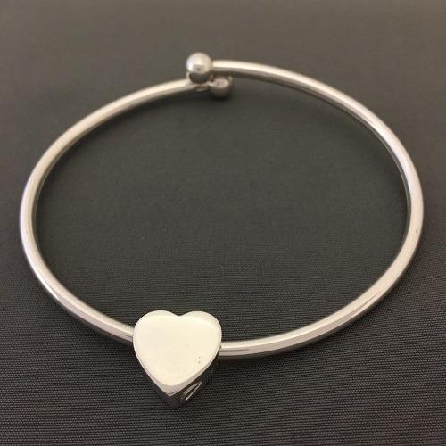 Slider Heart Ash Cremation Bracelet