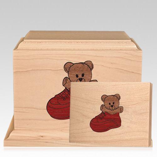 Sneaker Children Wood Cremation Urns