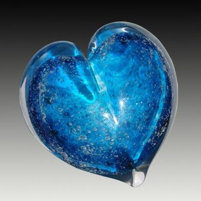 Solar Heart Glass Cremation Keepsakes