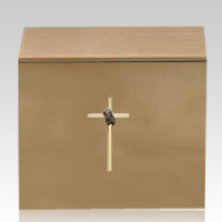 Cross Praying Hands Bronze Cremation Urns