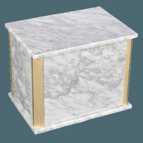 Solitude Bianco Carrara Marble Companion Urn