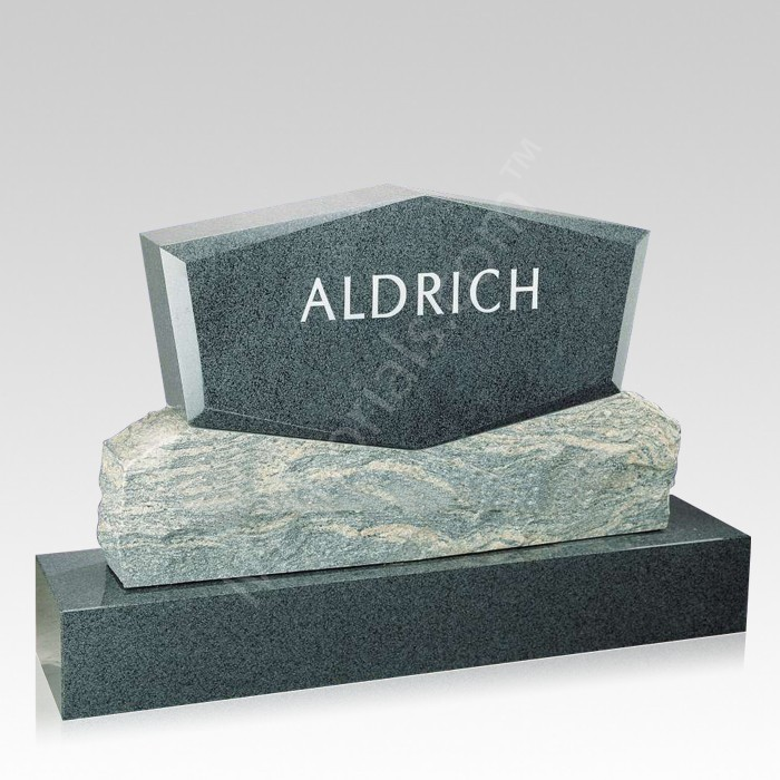 Spectrum Upright Cemetery Headstone