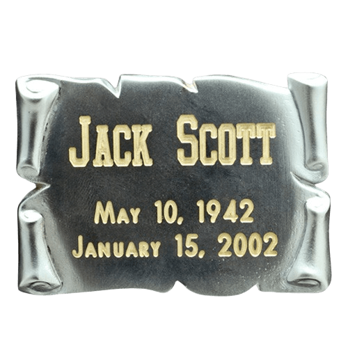 Square Silver Nameplate Medallion