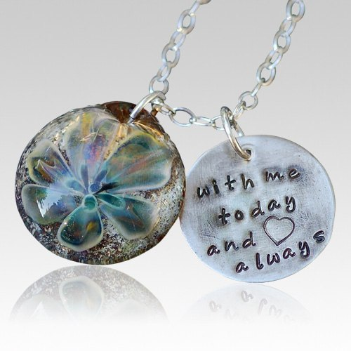 il necklace ashes pendant fused jewelry grzn pet listing memorial glass cremation ash
