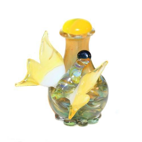 Sunburst Butterfly Tear Bottle