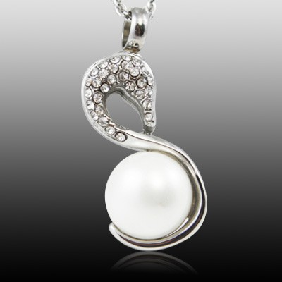 Swan Pearl Cremation Jewelry