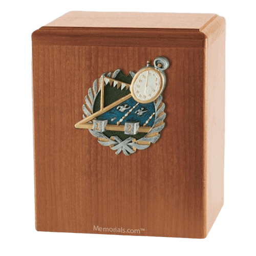 Swimmer Light Cherry Cremation Urn