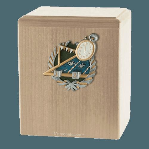 Swimmer Maple Cremation Urn