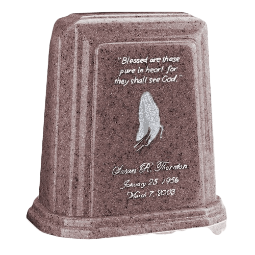 Tablet Millennium Basil Wood Marble Urn