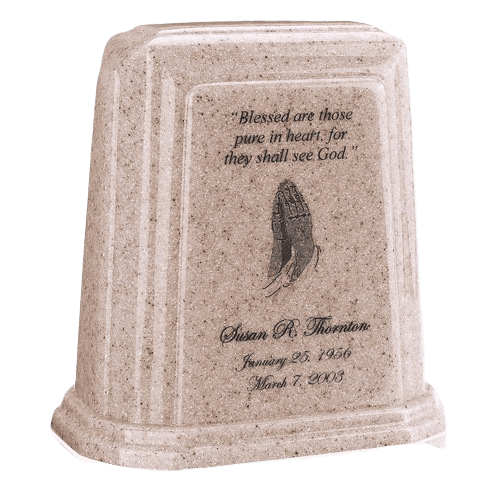 Tablet Millennium Cream Marble Urn
