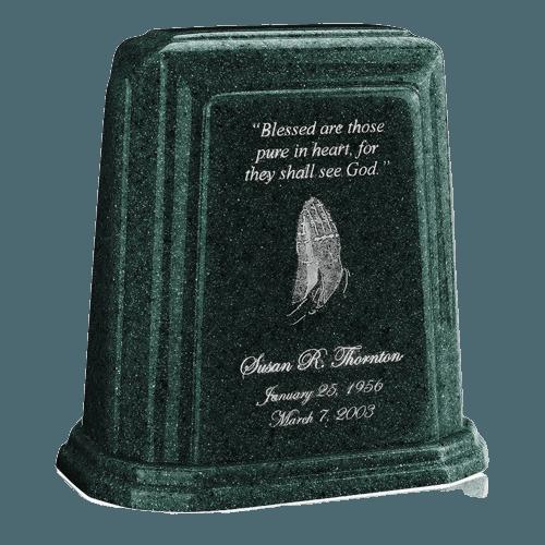 Tablet Millennium Emerald Marble Urn