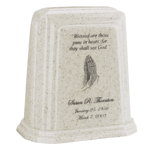 Tablet Millennium Frost Marble Urn