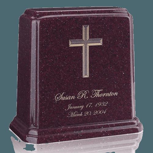 Tablet Burgundy Marble Urn