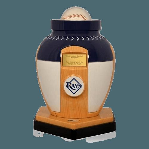 Tampa Bay Rays Baseball Cremation Urn