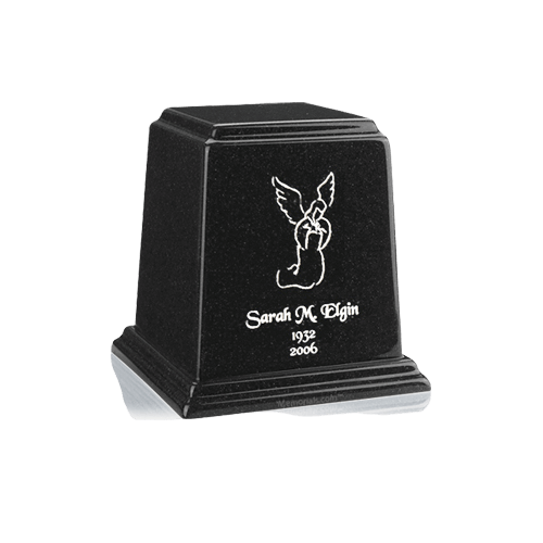 Temple Charcoal Mini Marble Urn