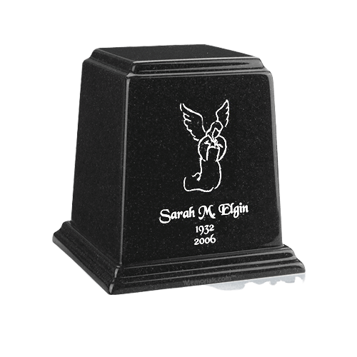 Temple Charcoal Small Marble Urn