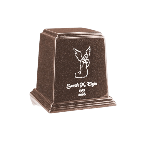 Temple Chocolate Mini Marble Urn