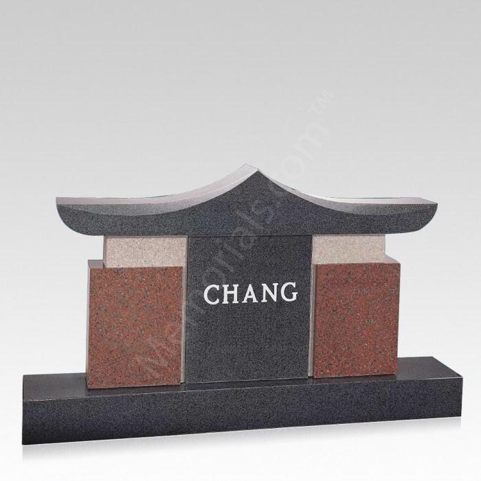 Temple Companion Granite Headstone