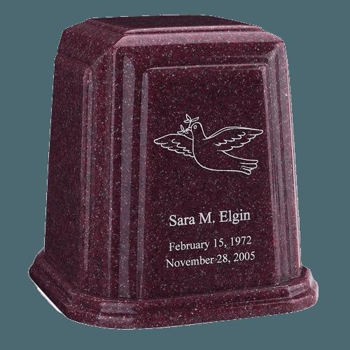 Temple Millennium Burgundy Marble Urn