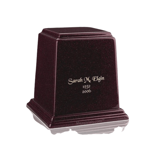 Temple Burgundy Keepsake Marble Urn